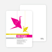 1000 Cranes Party Invitations - Fuschia
