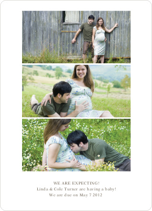 3 Photo Pregnancy Announcements - Chocolate Milk
