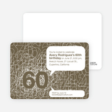 60th Birthday Party Invitations with a Numbers Theme - Walnut