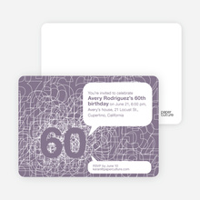 60th Birthday Party Invitations with a Numbers Theme - Wisteria
