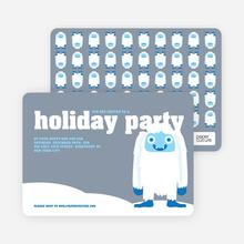 Abominable Snowman Holiday Invitations - Mercury