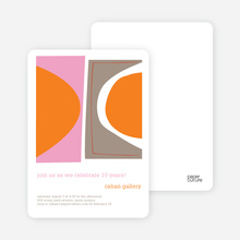 Abstract Art Party Invitations - Sunset Pink
