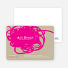 Abstract Brush Invitations - Pink Doodle