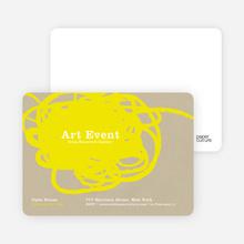 Abstract Brush Invitations - Mellow Yellow
