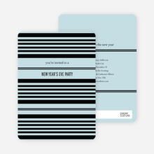 Abstract Stripes New Year's Invitations - Arctic Blue