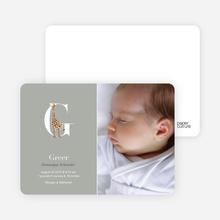 Animal Monogram Series Letter G: Giraffe - Warm Gray