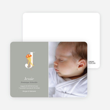 Animal Monogram Series Letter J: Jellyfish - Warm Gray