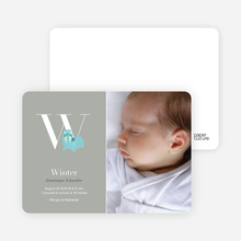 Animal Monogram Series Letter W: Walrus - Warm Gray
