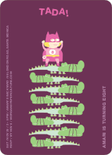 Super Heroine Birthday Party Invitation - Raspberry