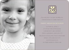 Chalice and Child Communion Invitations - Slate Grey