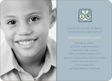 Chalice and Child Communion Invitations - Powder Blue
