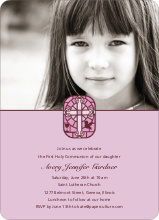 Stained Glass Communion Invitations - Lavender