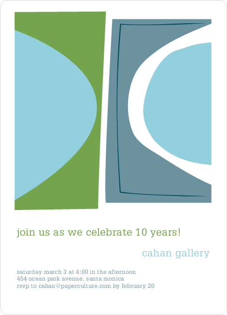 Abstract Art Party Invitations - Tea Leaf