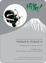 Stealth Ninja Children's Birthday Invitations - Forest Green