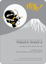 Stealth Ninja Children's Birthday Invitations - Squash