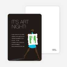 Art Night Invitations - Cornflower