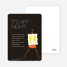 Art Night Invitations - Carrot