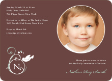 Monogrammed Dove Invitations - Mocha