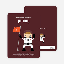 Astronaut Birthday Invitation - Espresso