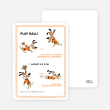 Babe Woof: Baseball Invitations - Papaya