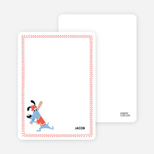 Babe Woof: Baseball Stationery - Red Shirt
