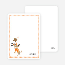 Babe Woof: Baseball Stationery - Papaya