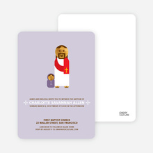 Jesus and Baby Baptism Invitation - Pale Purple