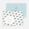 Baby Bird Shower Invitation - Sea Blue