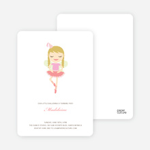 Ballerina Invitations - Cotton Candy