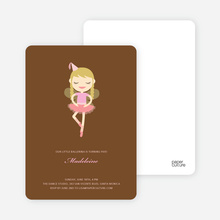 Ballerina Birthday Invitations - Russet Brown