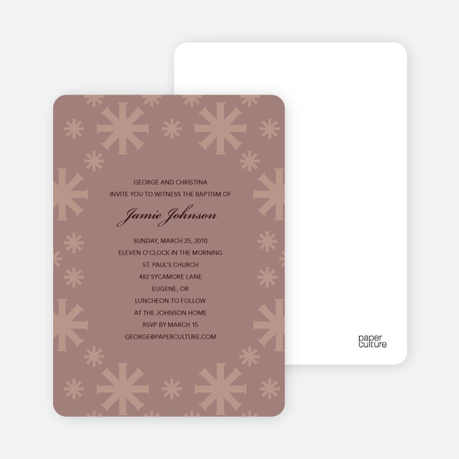 Baptism Invitations: Crossing Crosses - Light Purple