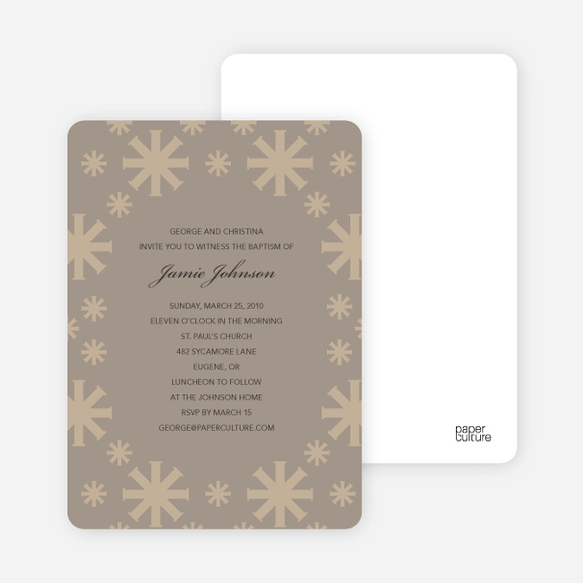 Baptism Invitations: Crossing Crosses - Gray