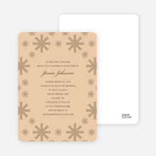 Crossing Crosses Baptism Invitation - Beige