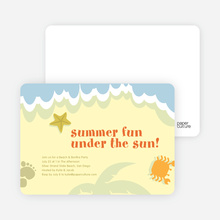 Beach Themed Summer Party Invitations - Lemon Chiffon
