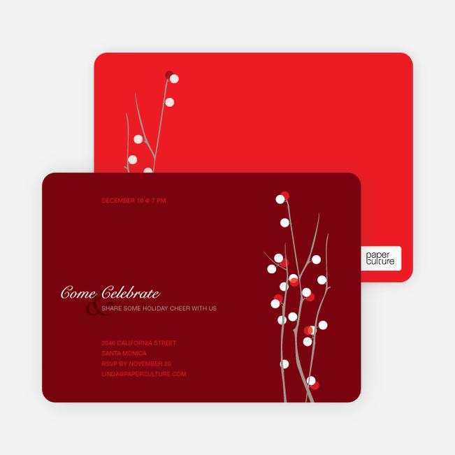 Berry Happy Holiday Invitations - Tomato Red