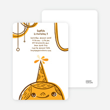 Birthday Party Celebration Invitations - Golden Rod Orange