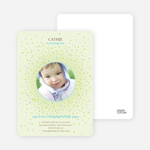 Blooming Star Kid's Birthday Invitations - Lemonade