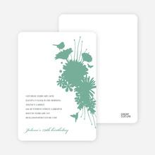 Blue Nature's Bounty Baby Shower Invitation - Aquamarine