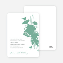 Blue Nature's Bounty Baby Shower Invitation - Aquamarine