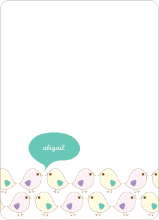Notecards for the 'Birdie Baby Announcements' cards. - Aqua