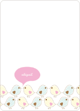Notecards for the 'Birdie Baby Announcements' cards. - Cotton Candy