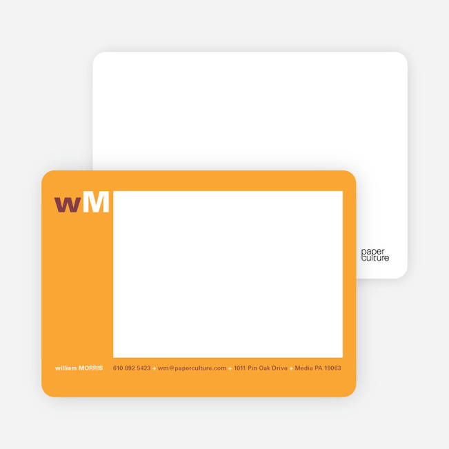 Bold Colors, Bold Statements Note Cards - Mango
