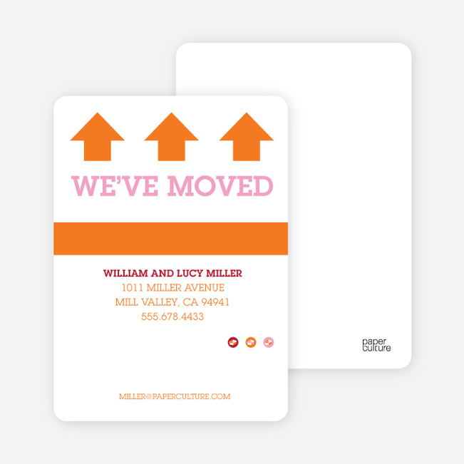Bold, Modern Moving Announcements - Orange Sherbert