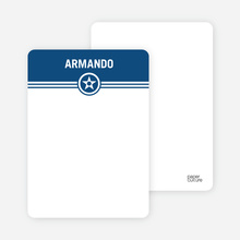 Bold Star Notecards - Navy