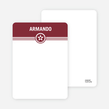 Bold Star Notecards - Maroon