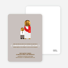 Jesus and Boy Baptism Invitation - Gray