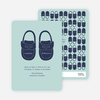 Boys' Shoes Modern Baby Announcement - Baby Blue