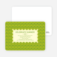 Bright and Bold Summer Celebration Invitations - Lime