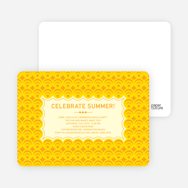 Bright and Bold Summer Celebration Invitations - Cantaloup