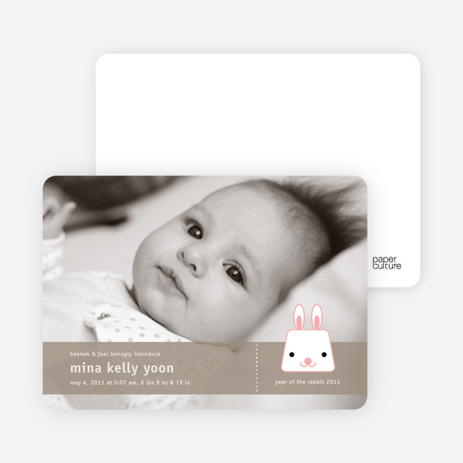 Bunny Rabbit Birth Announcements - Coco Coconut